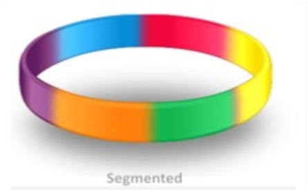 Custom Rubber Bracelets Segmented