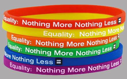 Custom Silicone Bracelet Stand Up For Human Right Today