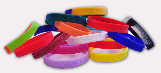 Custom Rubber Wristband No Minimum Order Rush Service Available