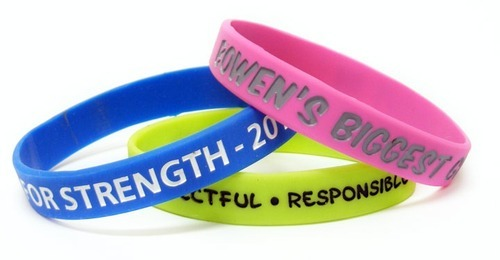 customized rubber bracelets